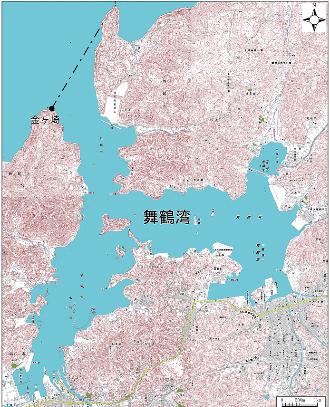 舞鶴湾 地形